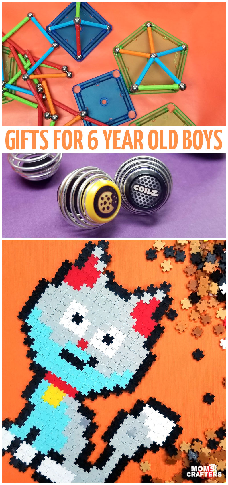 Click to find the best gifst for 6 year old boys for every budget! You'll find affordable gift ideas, STEAM gifts and the best toys of 2019. All of these are educational gifts for boys and girls that are six for Christmas, Hanukkah, and birthdays.