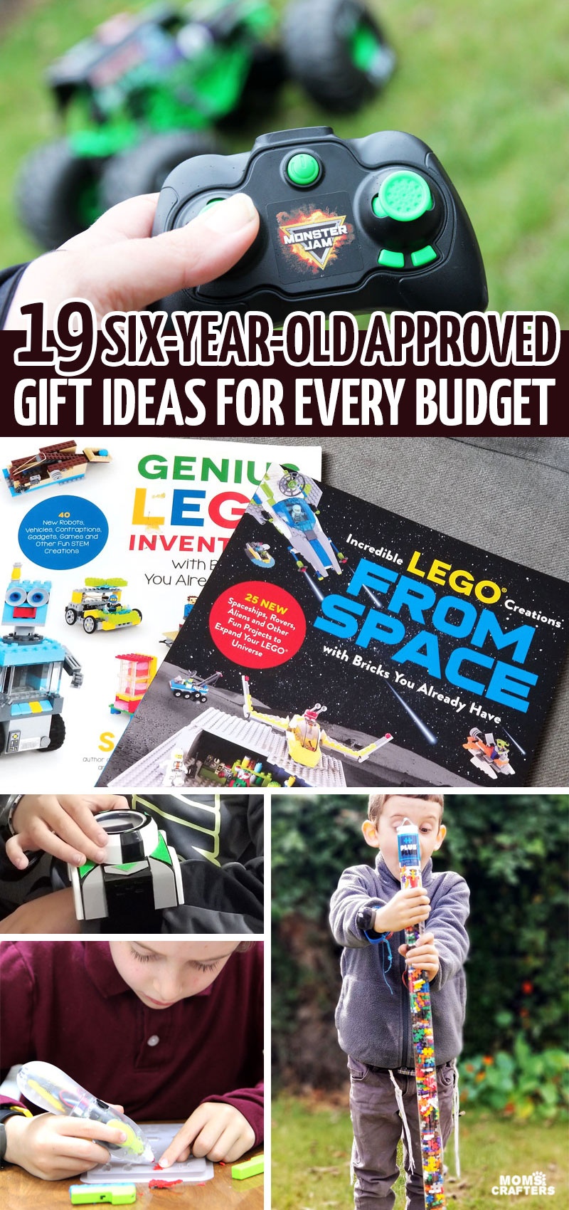This holiday gift guide for boys ages 6 and up has practical and affordable ideas as well as bigger more epic gifts! It includes the best birthday gifts for 6 year old boys and ideas for hanukkah and Christmas too.