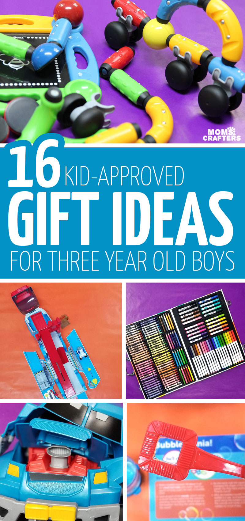 If you're looking for educational play gifts for kids ages 3-6, this list of the best birthday gifts for 3 year old boys is perfect for Christmas and Hanukkah too! They come in every price range so you'll find something cheap and affordable, or grand and dream-fulfilling!