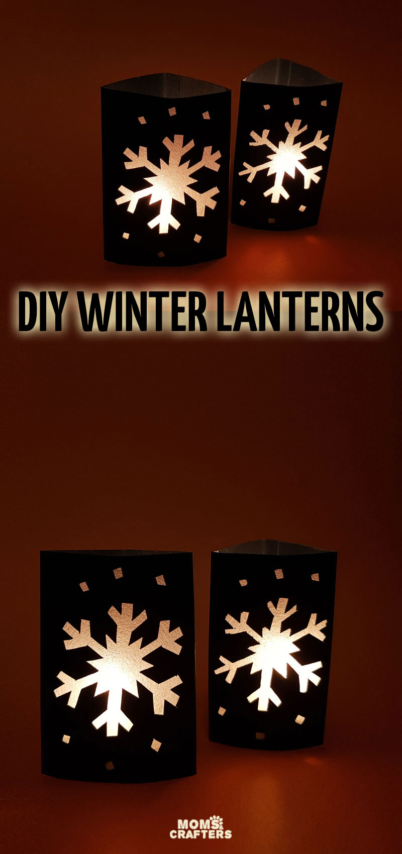 Click for the free template to make this fun DIY snowflake lantern craft! This fun paper craft for winter is easy for kids, teens, and adults.