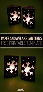 Craft an easy DIY snowflake lantern using paper! This fun paper lantern craft makes gorgeous christmas decor and is a fun paper craft for kids, or a beginner paper cutting craft for anyone