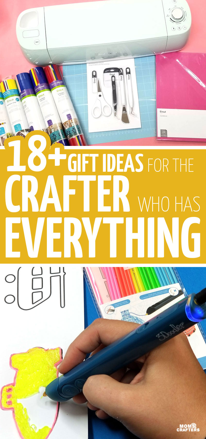 click for gift ideas to buy for creatives and unique gifts for the crafter who has everything! These cool crafting gadgets, merch, and supplies are buth affordable and luxurious and everything in between.