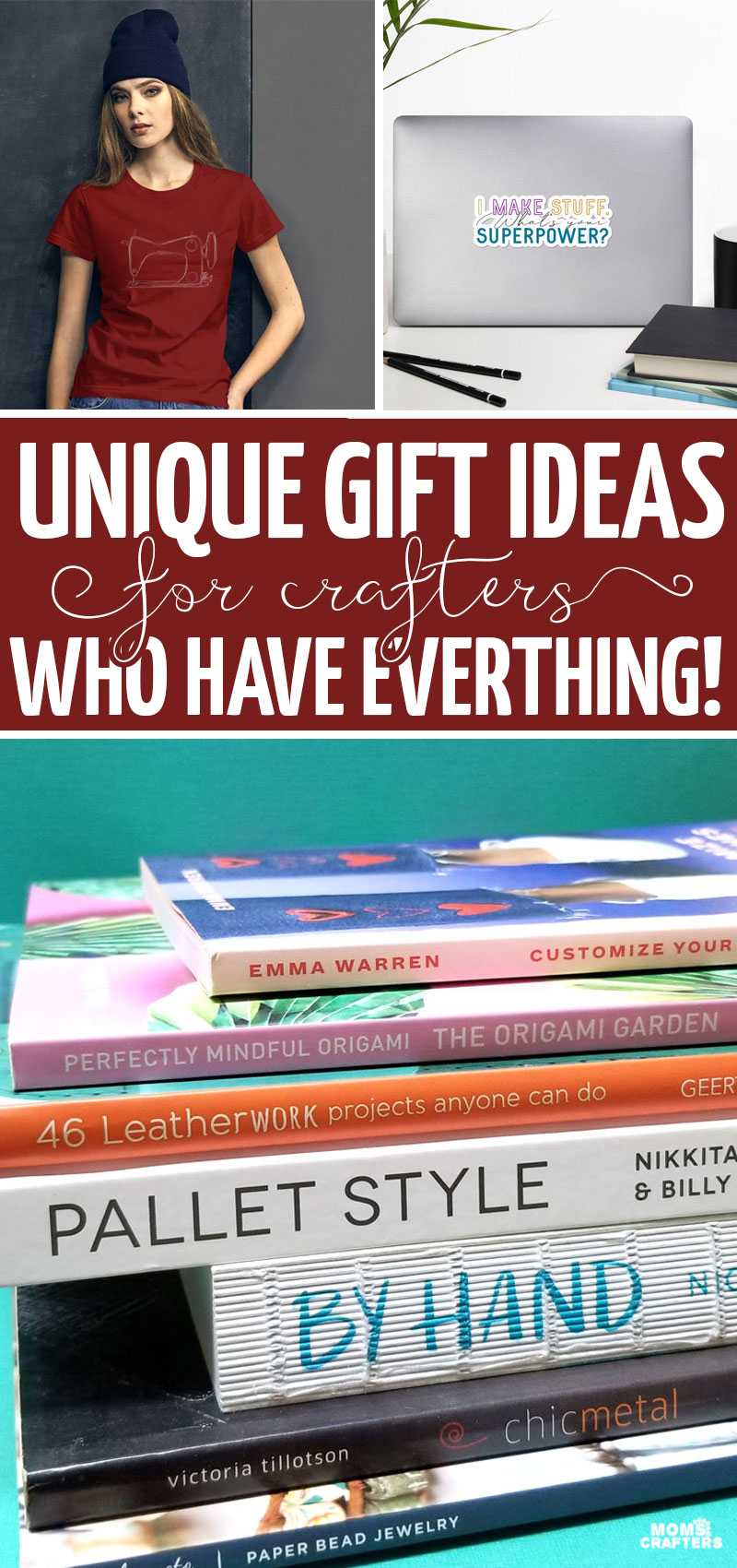 20+ Gifts for the crafter who has everything - these craft gifts are perfect for creatives, craft rooms, people who want craft books and more!