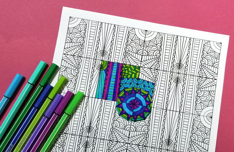 Free Printable Pattern Coloring Pages for Adults * Moms and ...