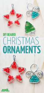Learn how to make wire tree ornaments. These wire wrapped ornaments make stunning Christmas crafts for adults and teens.