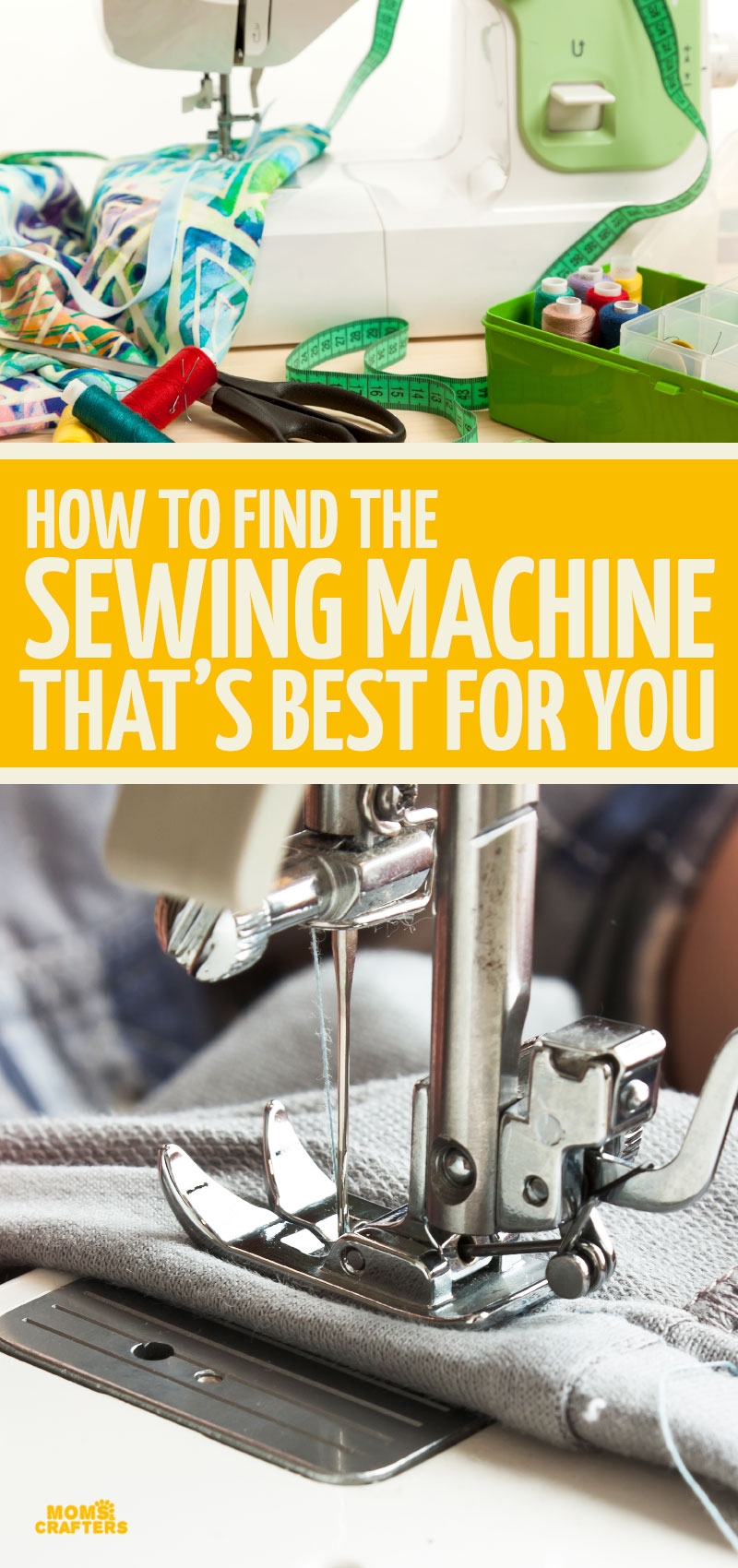 Click to learn how to choose the best sewing machine for your needs! These sewing machine reviews include heavy duty sewing, beginners, professionals, tips for sewing leather, and more!