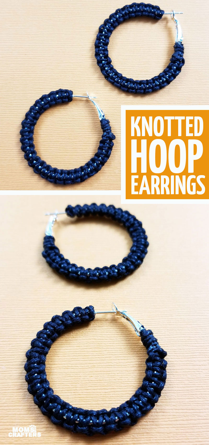 These DIY hoop earrings are so cool - and a fun jewelry making craft for beginners! This DIY jewelry project is perfect for teens and tweens.