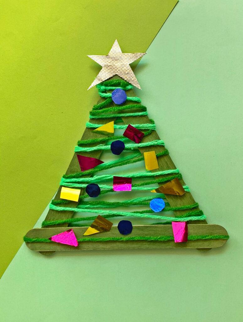 craft stick christmas tree ornament