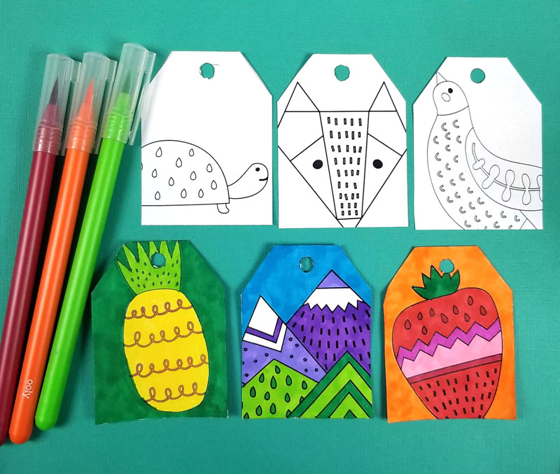 Free Printable Gift Tags To Color Moms And Crafters