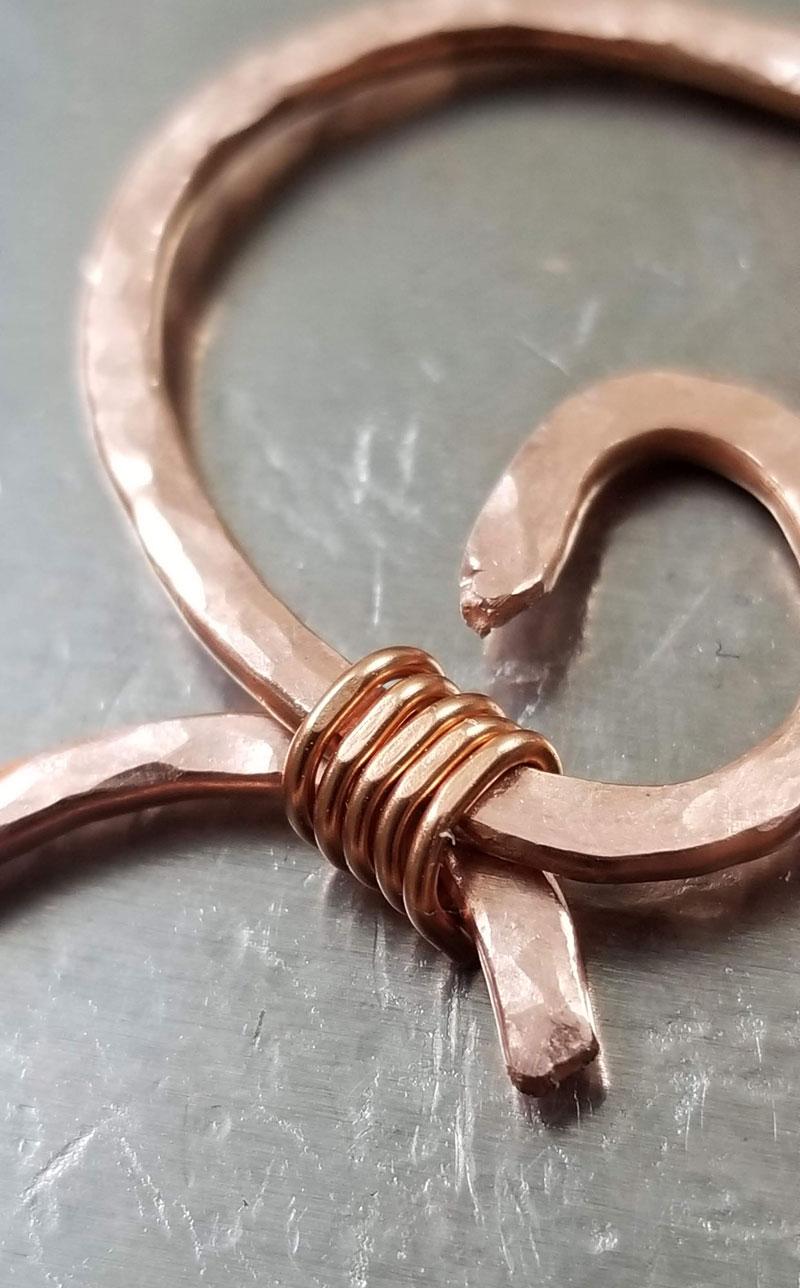 wire heart pendant tutorial 7