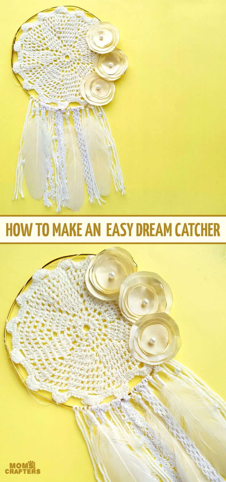 Learn how to make a dreamcatcher with a simple and easy step by step tutorial.