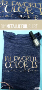 Love metallic? Craft this easy metallic foil iron on t-shirt using the free mat and learn how to make a tshirt with Cricut Easypress 2