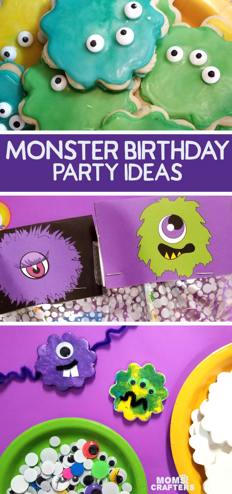 Click for the ultimate list of monster birthday party ideas for boys or girls! From party favors to decorations and food ideas, I have your birthday party theme covered!