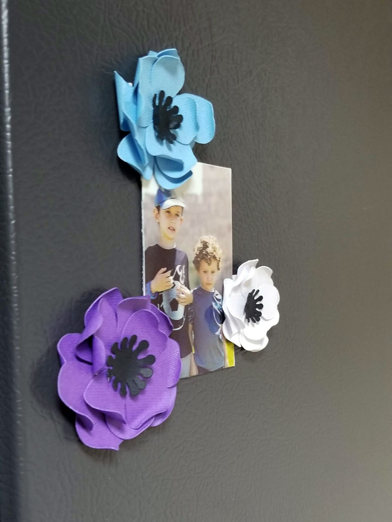 Click to make mini paper flower magnets and cricut paepr flowers for beginners