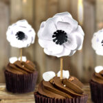 Click to make the paper flower cupcake toppers for weddings bridal showers and more
