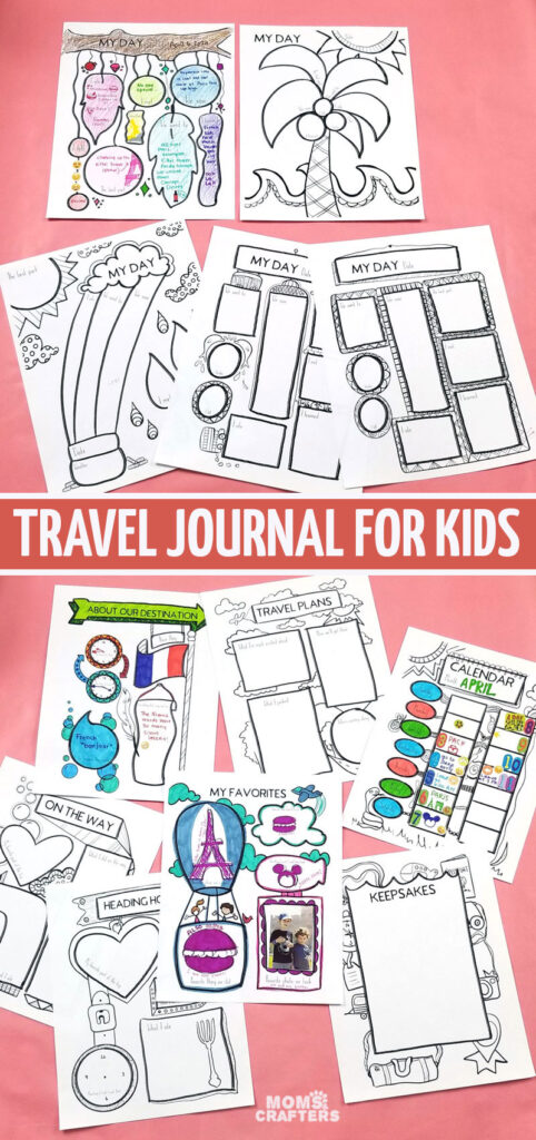 this travel journal is good for kids of all ages - teens tweens and ages 8 and up. You'll love the cool coloring book pages and it's a great scrapbooking idea for kids who travel.
