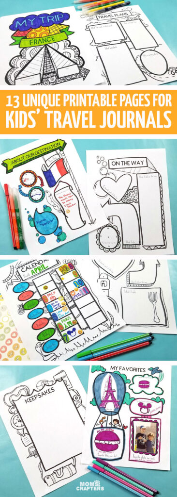 A travel journal for kids is a great way for them to keep memories and they make fantastic travel activities for kids!