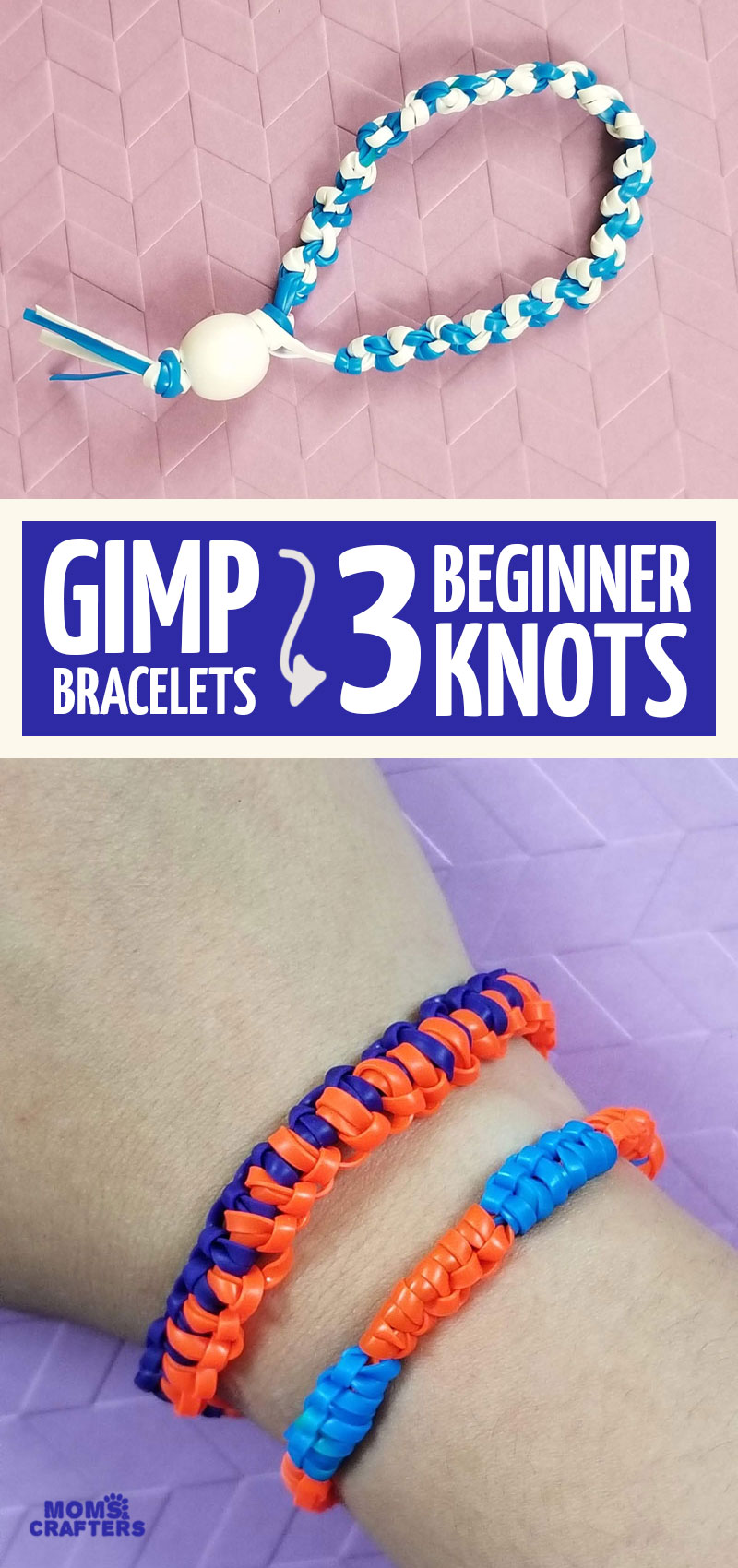 Make your own boondoggle lanyard and GIMP bracelets with these 3 easy knots for beginners! This jewelry making project for kids teaches how to make a gimp bracelet for boys and girls!