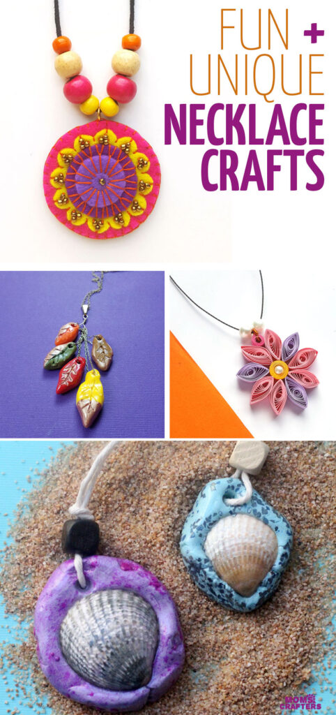 Click to learn how to make a necklace and so many necklace ideas for beginners! This fun jewelry making tutorial and projects are perfect for learning how to make jewelry from scratch for kid sand adults.