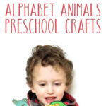 An adorable alphabet animals craft for kids! This preschool paper craft printable feautres print then cut Cricut animals, or use it without a cutting machine