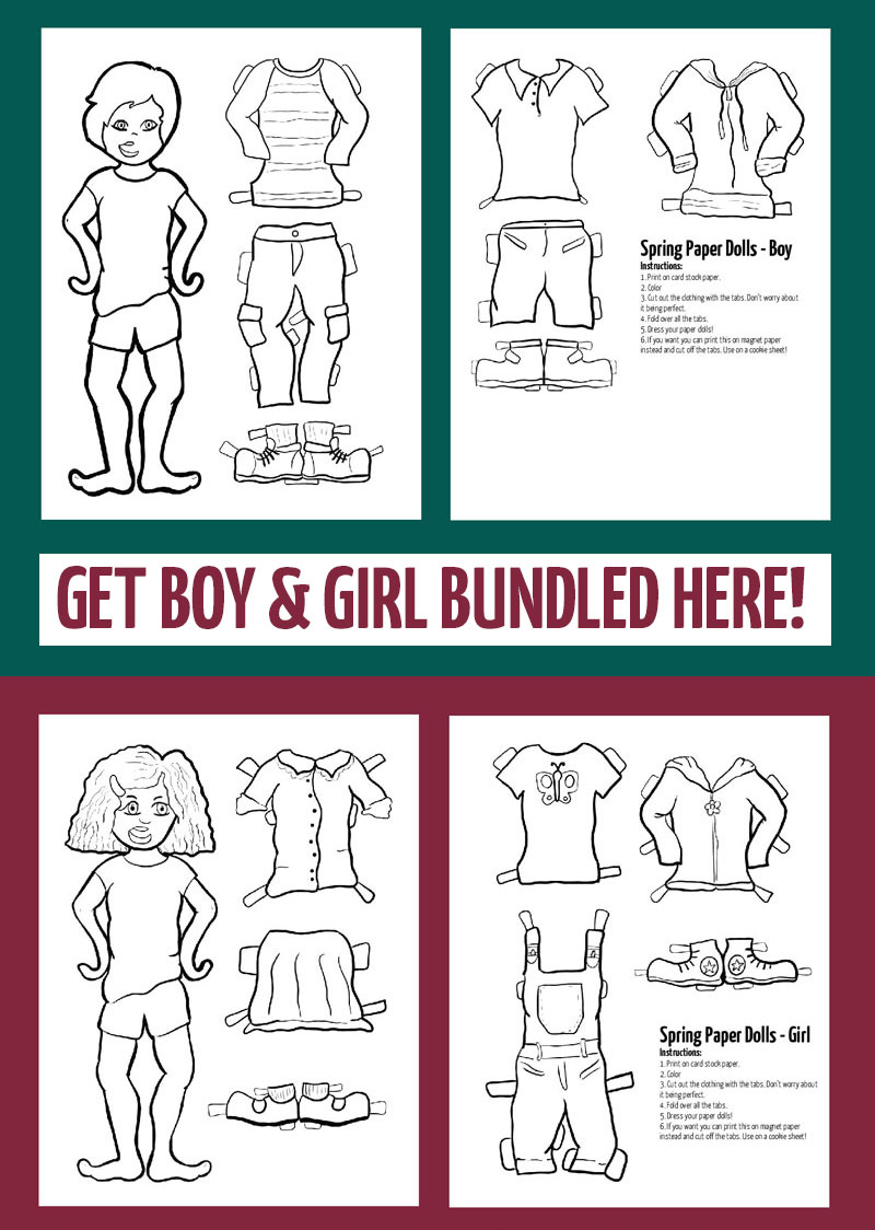 Download both the boy and girl paper doll templates for spring here!
