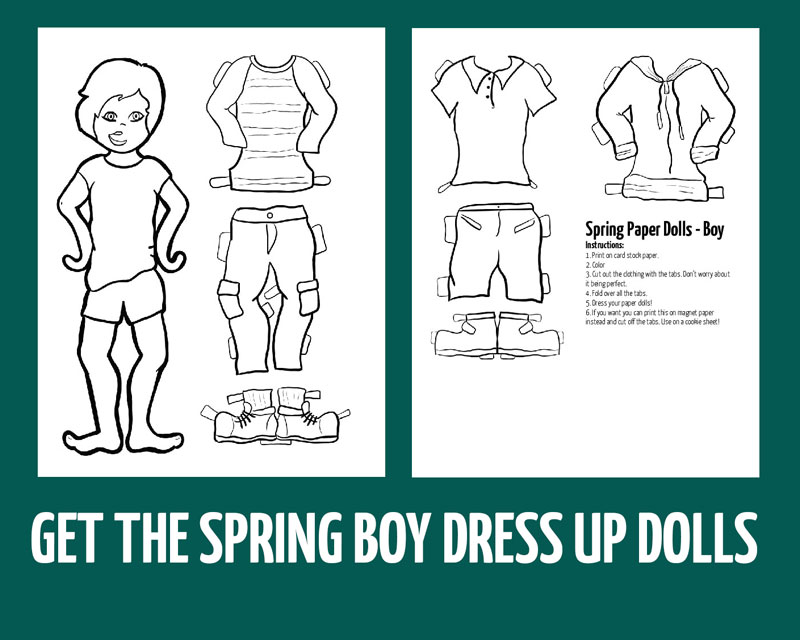 Download the boy paper doll templates here!