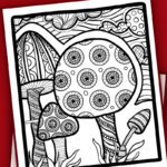 Click to download a free mushroom coloring page for adults! This Spring coloring page is a free printable PDF to color.