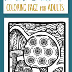 Who doesn't love whimsical nature coloring pages for adults? This fun mushroom coloring page is great for grown-ups and big kids too!