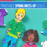Click to download and print this paper doll template for Spring! These boy and girl dress up dolls are perfect for teaching about weather, seasons, and weather-appropriate clothing. Your kids will love these printable paper toys and dress up dolls craft.