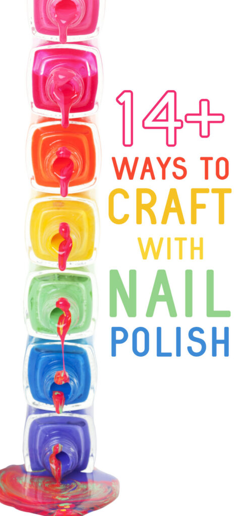 Click for loads of crafts for teens and tweens that use nail polish!