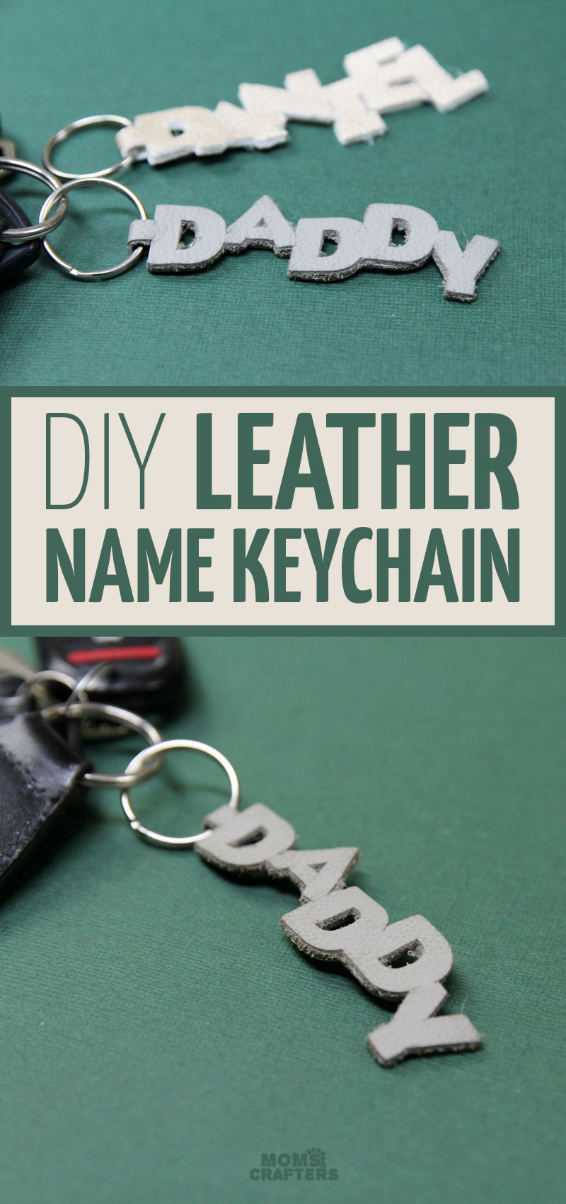 how to make diy leather keychain with cricut