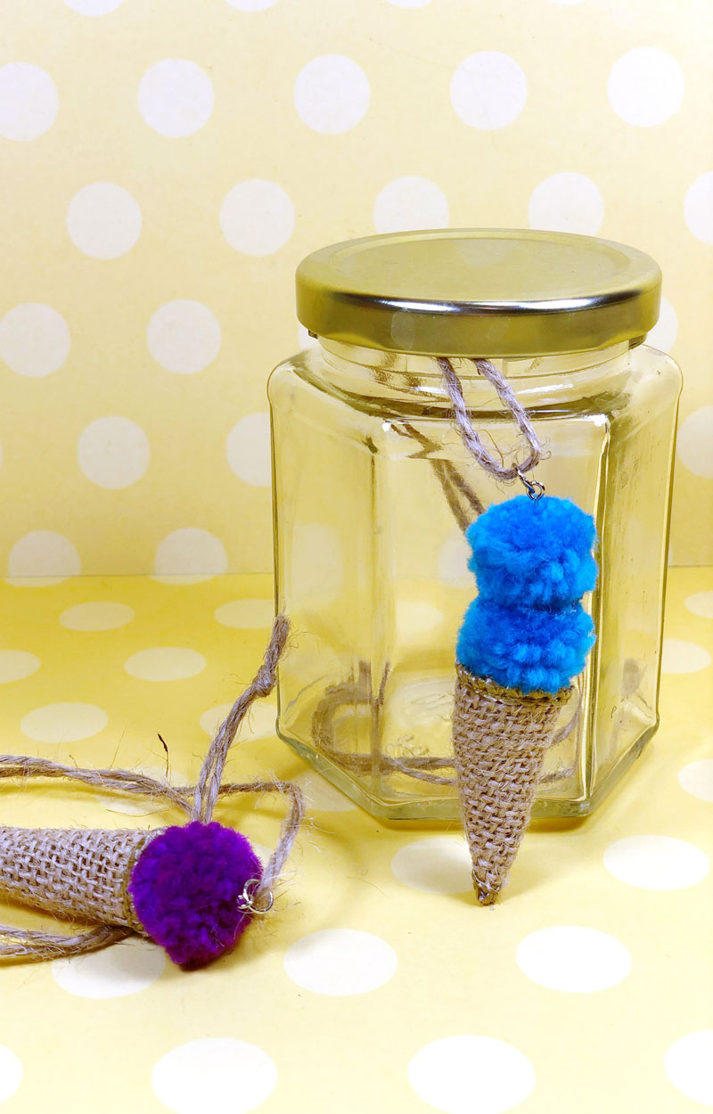Ice Cream Necklace Craft for Kids * Moms and Crafters