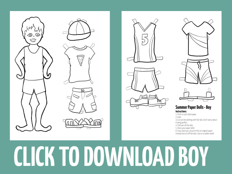 click to download summer paper craft for boys