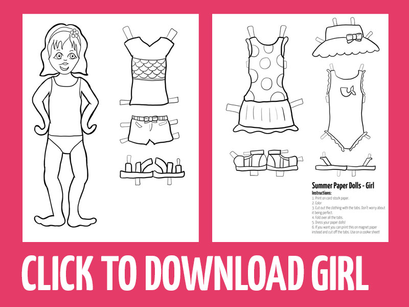 click to download summer paper craft for girls