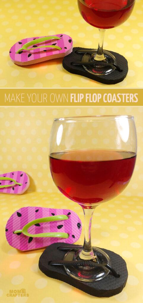 DIY flip flop coasters dollar store craft hero1