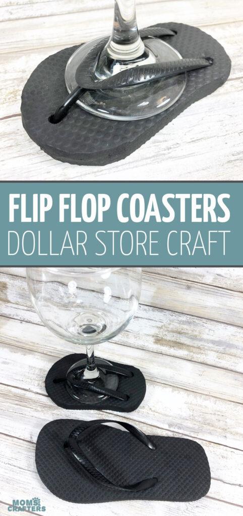DIY flip flop coasters - super cool!