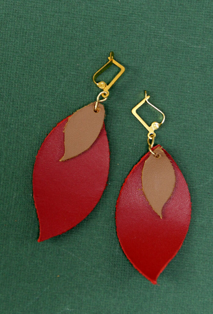 DIY Leather Earrings + Cricut Tips and Tricks * Moms and Crafters