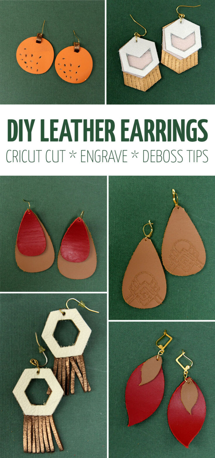 DIY leather earrings all styles collage