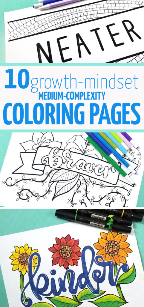 Motivating coloring pages