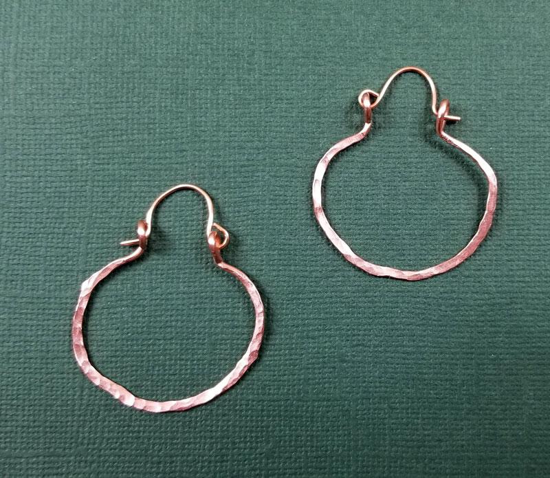 hammered hoop earrings v4
