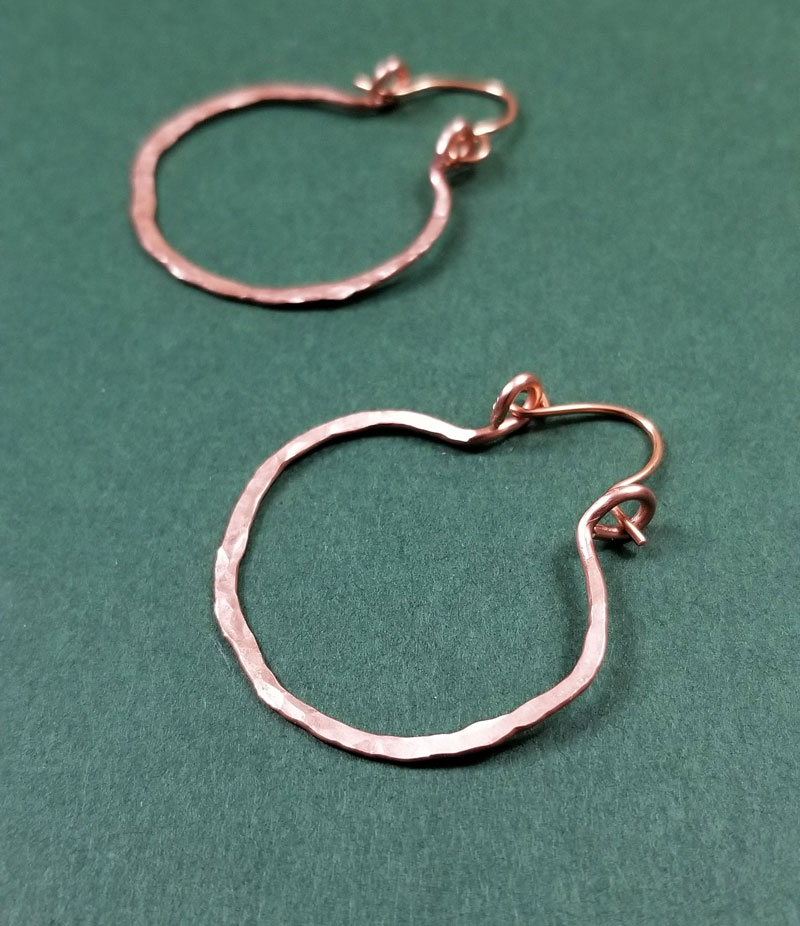hammered hoop earrings v5