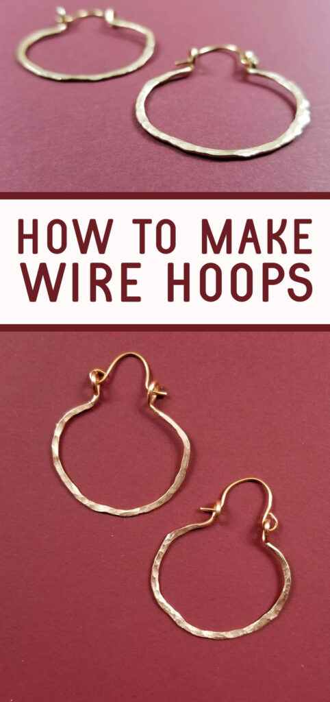 How to Make Hoop Earrings with Wire * Moms and Crafters