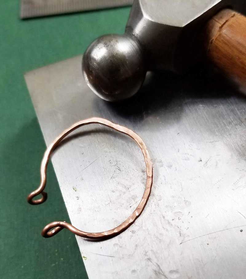 how to make hoop earrings with wire 5