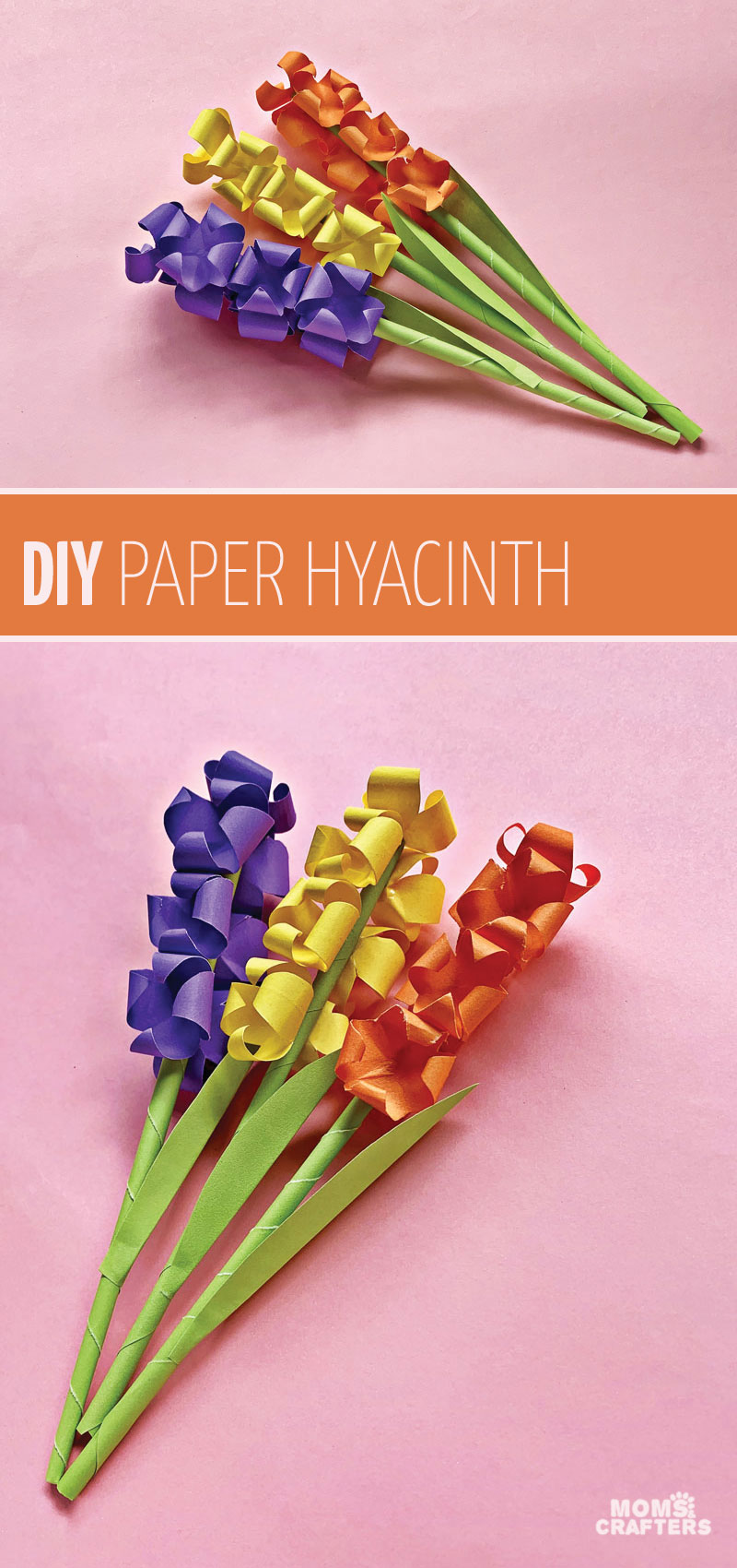 paper hyacinth flowers title image 1