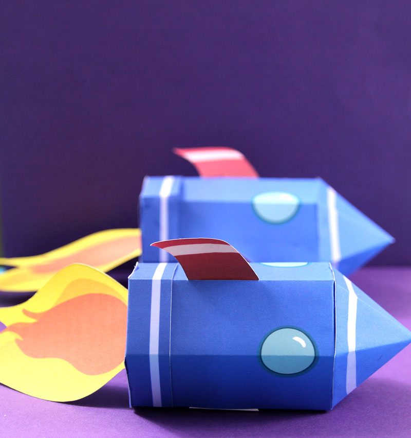 Paper Rocket Template – for favor boxes or paper toys!