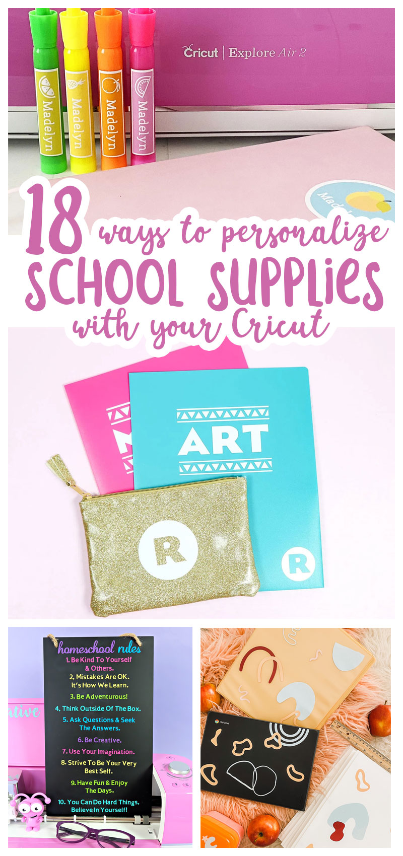 Back to School Cricut Ideas hero collage