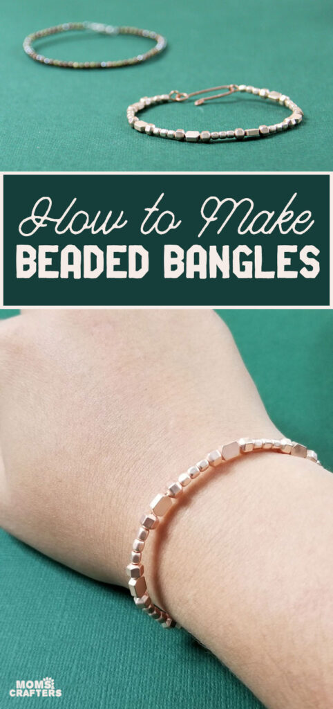 How to make beaded bangles * Moms and Crafters