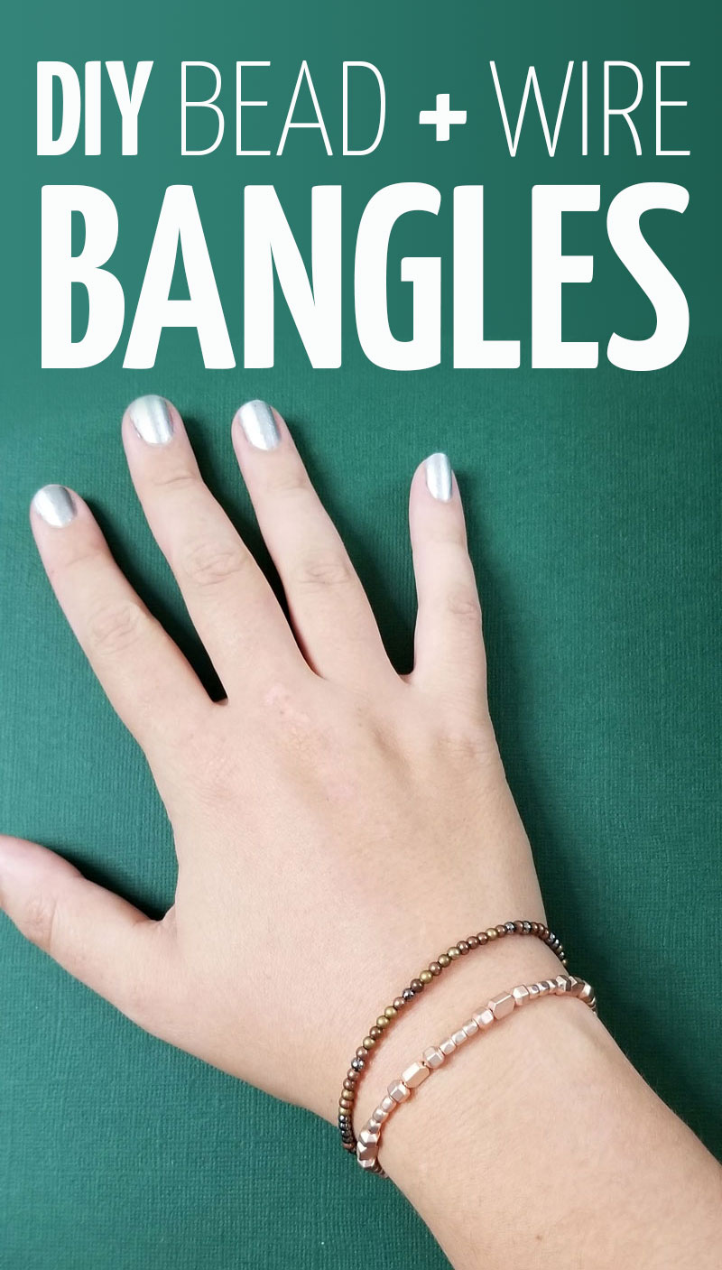 Click to learn how to make beaded bangles that are easy, elegant and fun! A cool wire jewelry making tutorial for beginners.