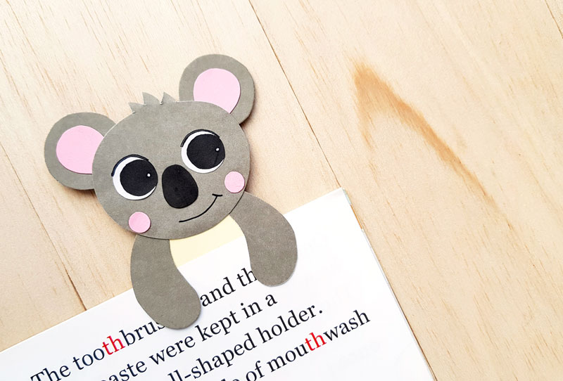 Koala Craft –  Hug Bookmark