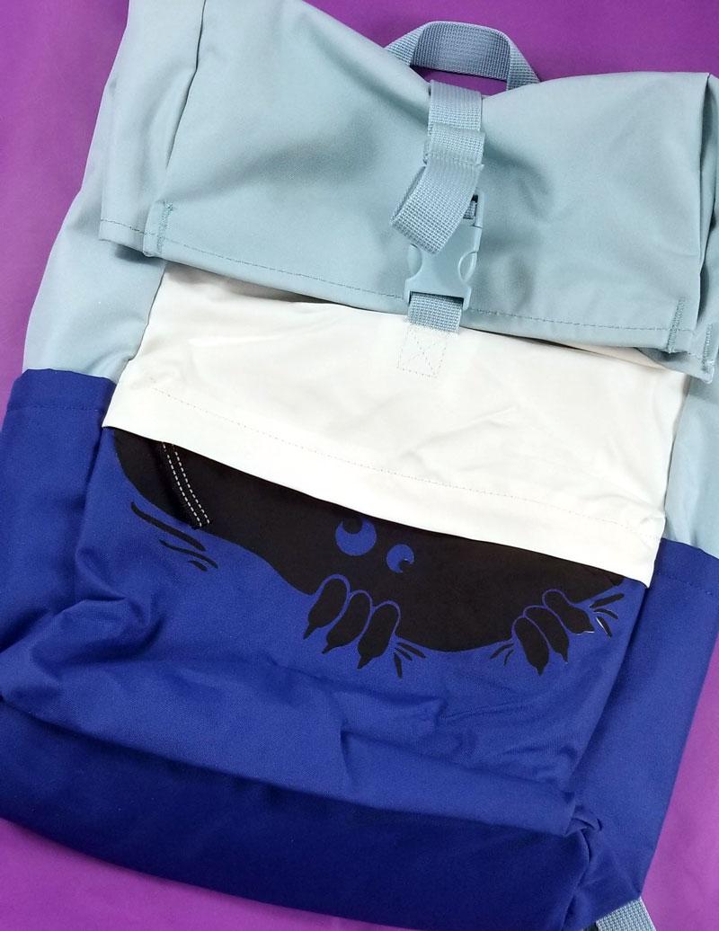 Peeking Monster SVG backpack iron on